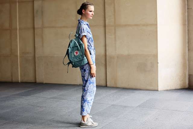 new balance-sneakers-street style-floral print clothes